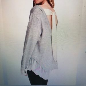 NWT H&M Sweater with Lace Trim